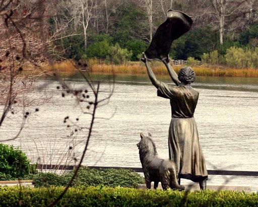 savannah, ga, bonnie blue tours, waving girl statue, morel park, savannah river, river street