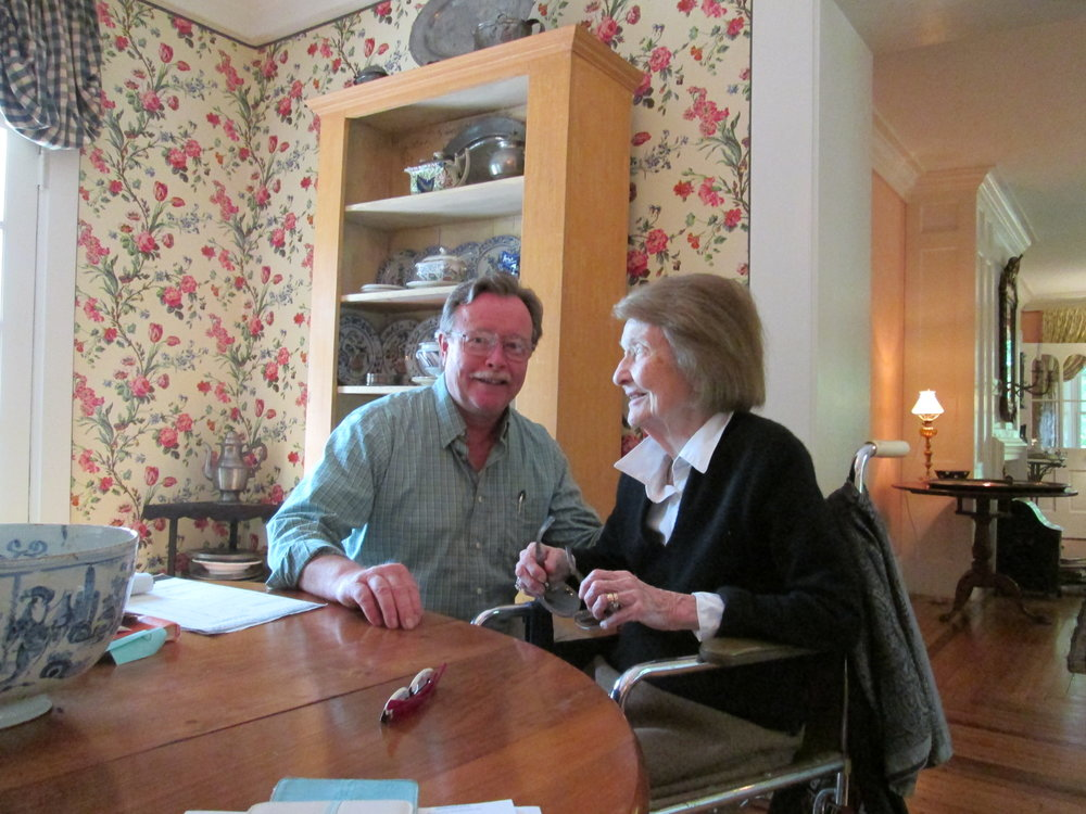 LPA President Dennis Brown chatted with Olive Stanford during a visit to her home last summer.