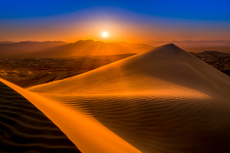Kelso Dunes at Mojave National Preserve at Sunset