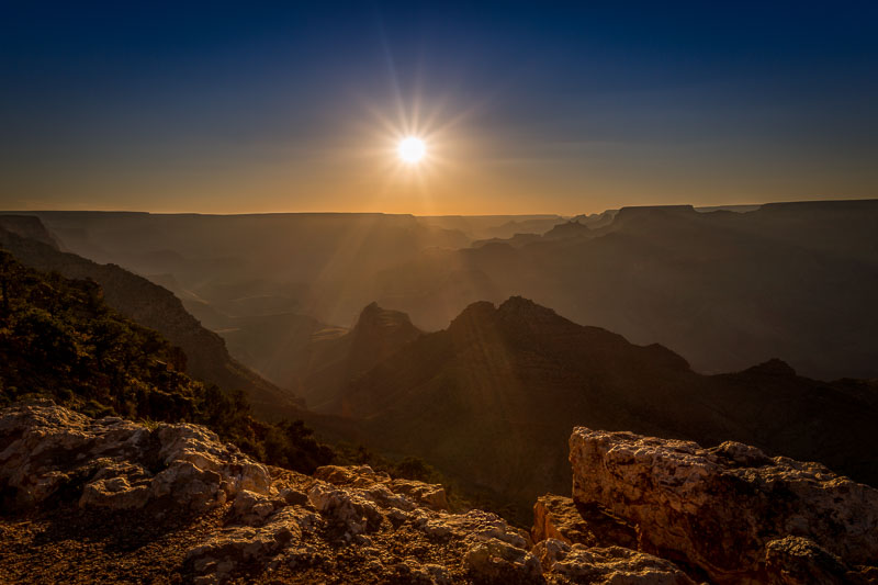 Sunset from Desert View at the Grand Canyon