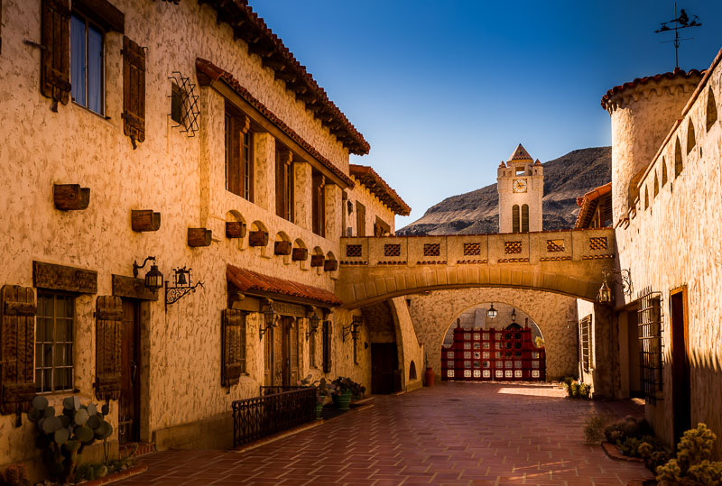 The Courtyard at Scotty's Castle