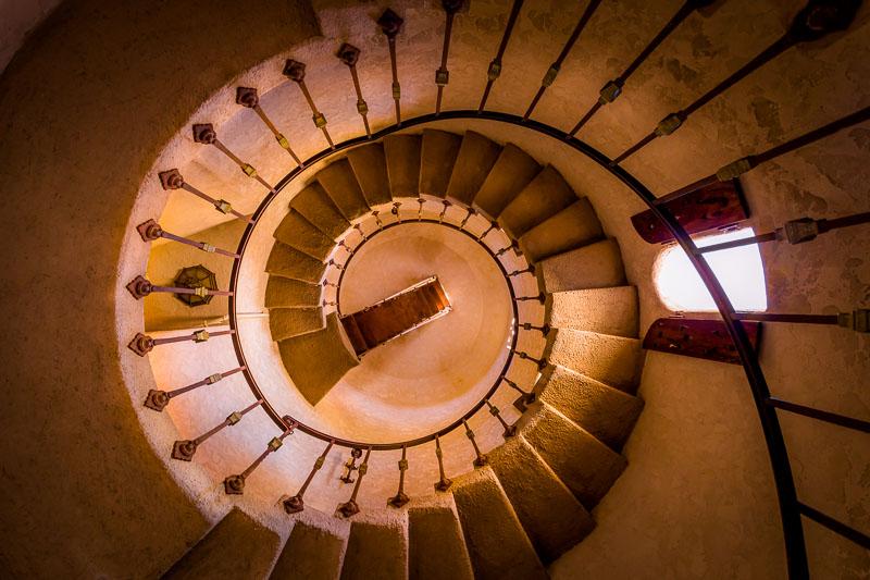 Spiral Staircase at Scotty's Castle
