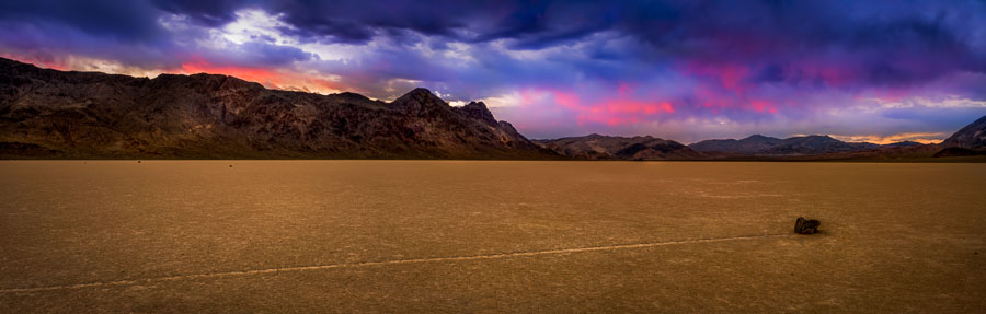 Moving Rock on the Racetrack at Death Valley