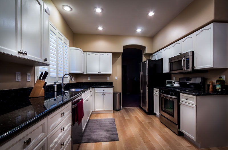 Professional photograph of a kitchen