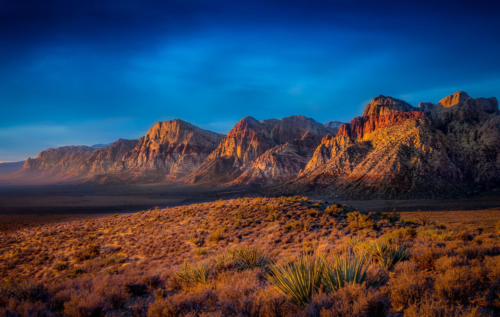 First Light at Red Rock