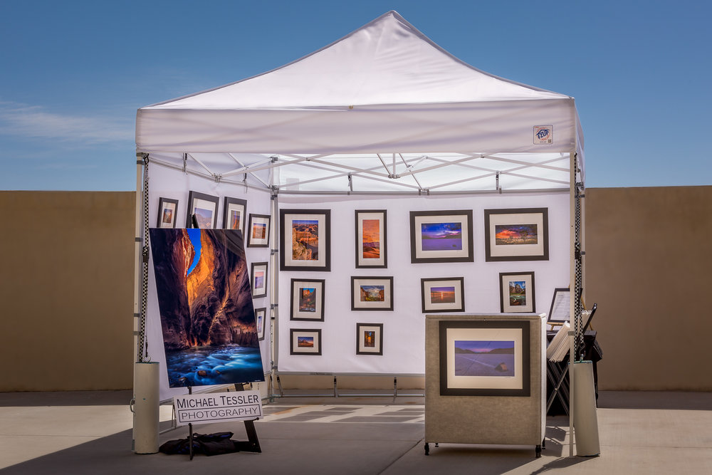 A typical art festival booth setup I use