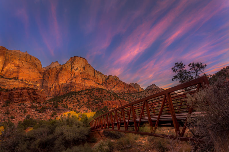 Bridge to the Sentinel, Zion National Park