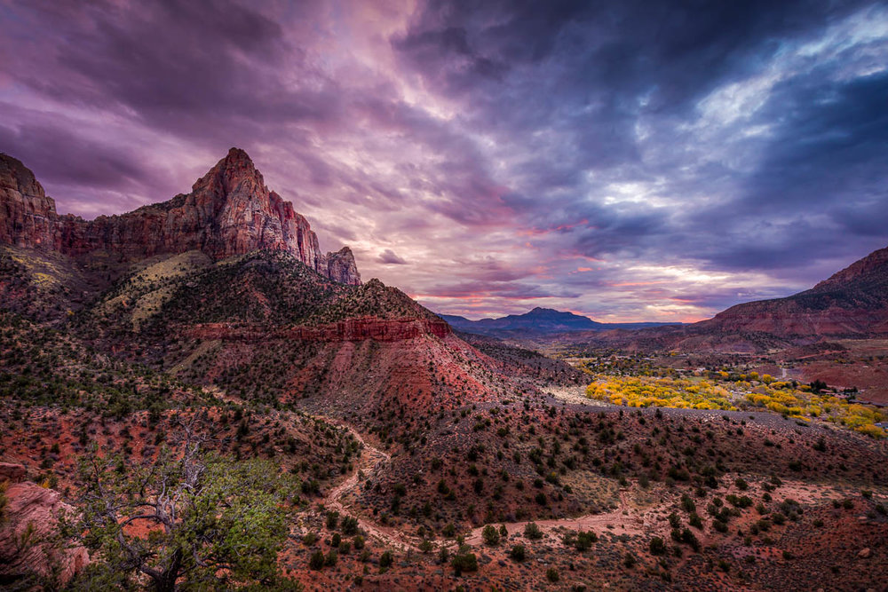 Colorful Fall Evening at the Watchman