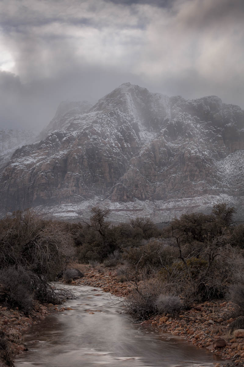 Red Rock Gray Winter Fine Art Photography by Michael Tessler.jpg