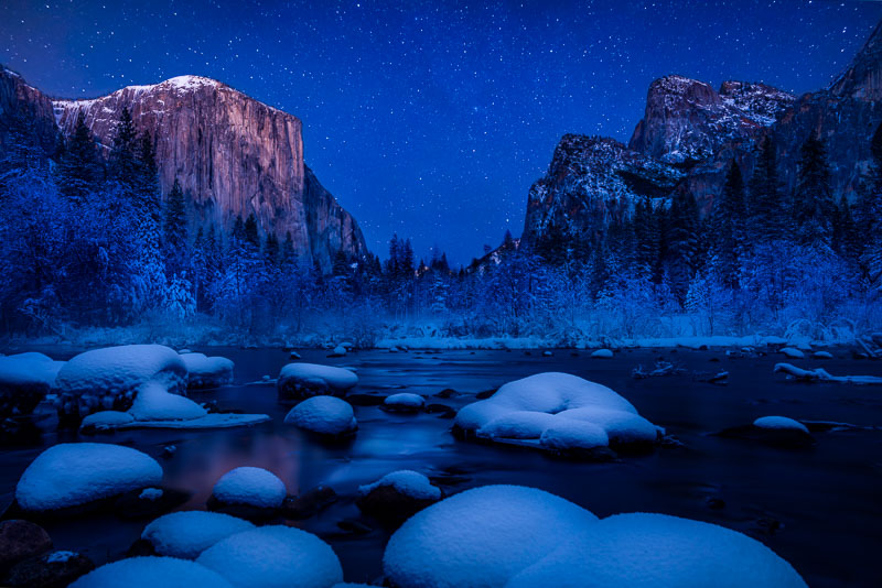 El Capitan Starry Night, Yosemite National Park