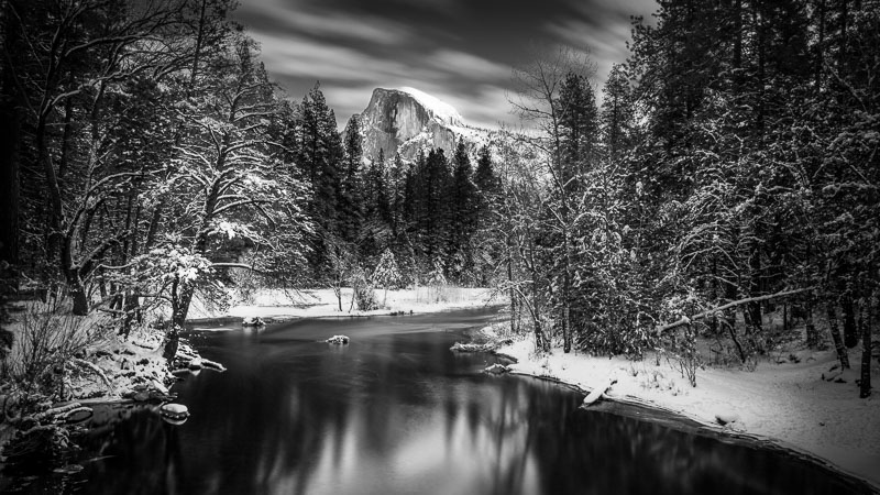 Half Dome on the Merced River, Yosemite National Park