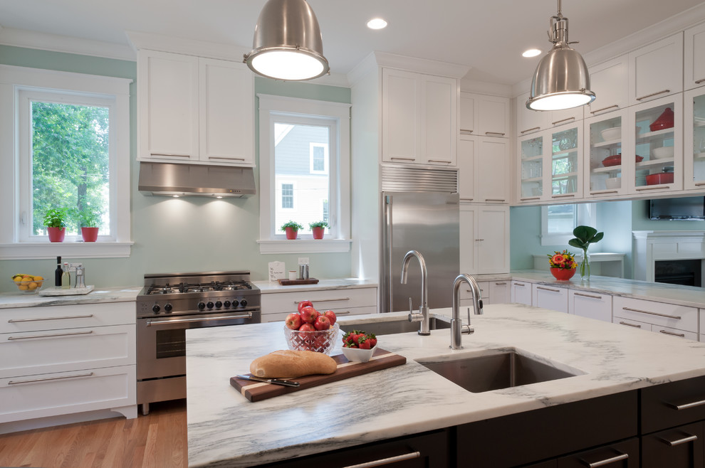 Mountain White Kitchen - Via  Houzz