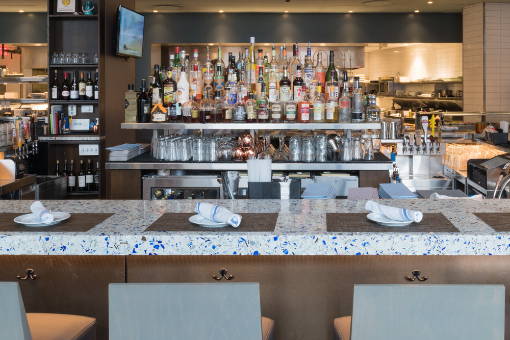 Passion Fish Restaurant - Bethesda,MD - Big Chivalry Blue Vetrazzo - Counters (5 of 13).jpg