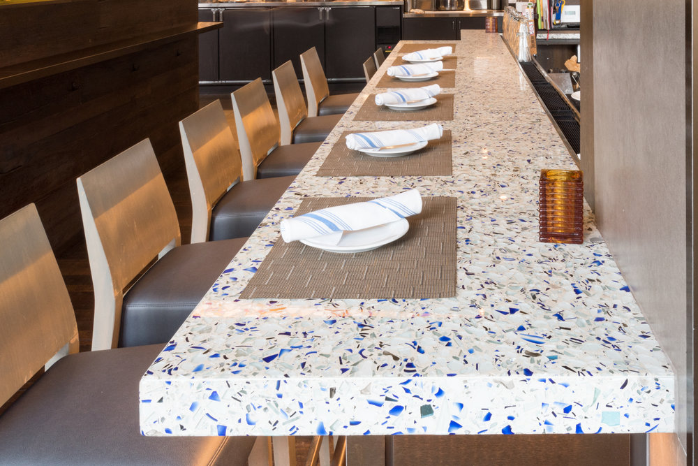 Passion Fish Restaurant - Bethesda,MD - Big Chivalry Blue Vetrazzo - Counters (8 of 13).jpg