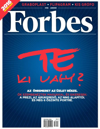 TE KI VAGY - WHO ARE YOU? FORBES Hungary ran a special on personal development as a part of business in the January 2016 edition