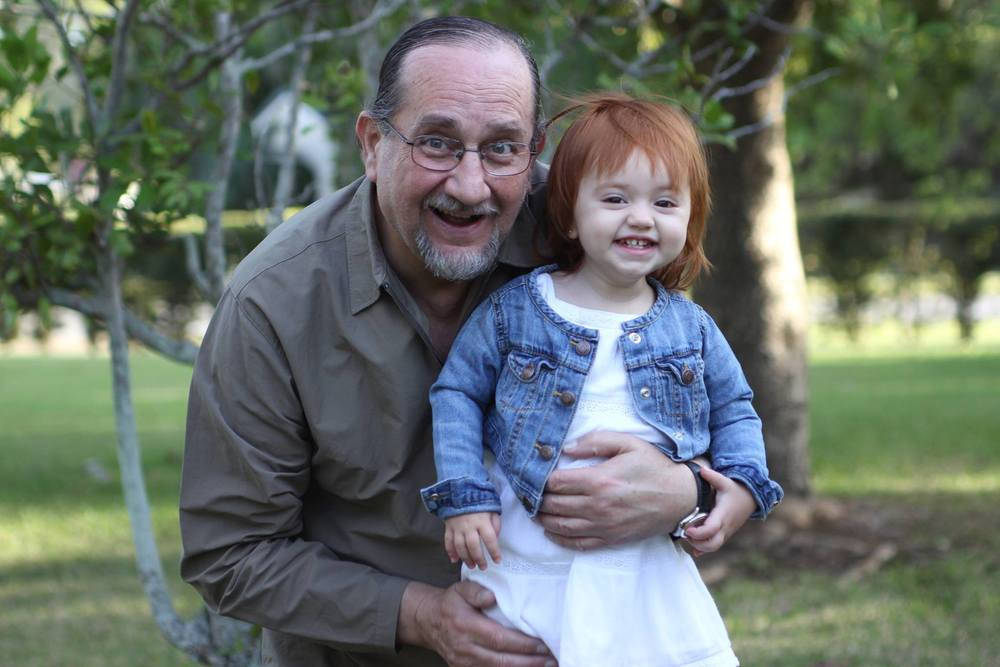 Con mi nieta divina.
