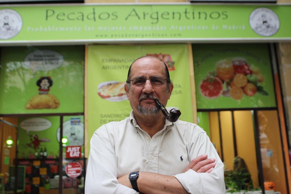Raúl, dueño de Pecados Argentinos.