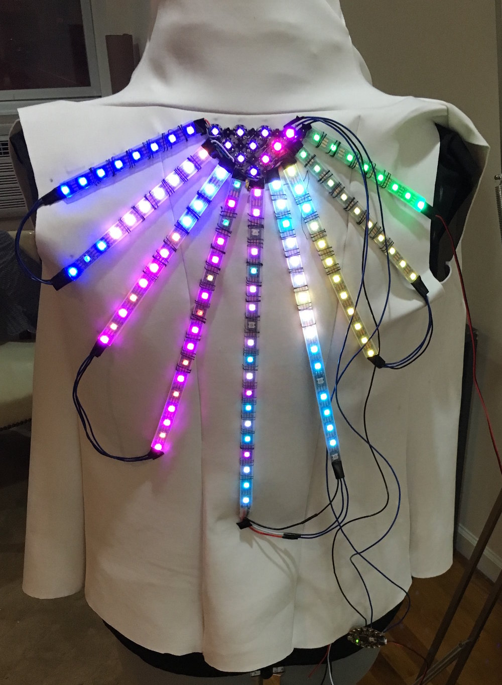 Vest with rays -base with lights