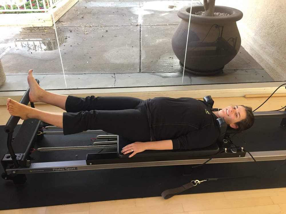 23 weeks pregnant doing some reformer pilates!