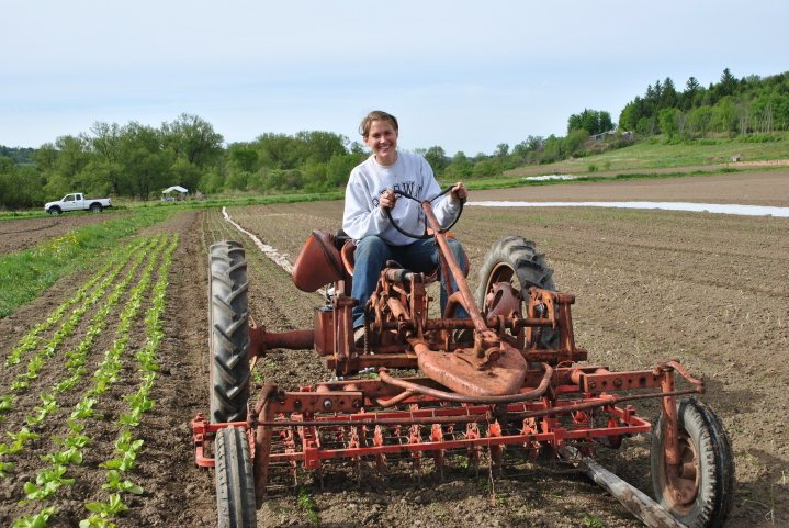 """My first job out of college apprenticing on a farm in Upstate New York."" 