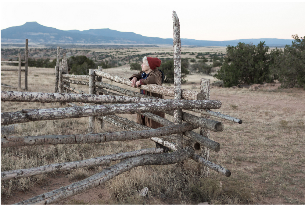 """Nette, a friend I made at Ghost Ranch in New Mexico."" 