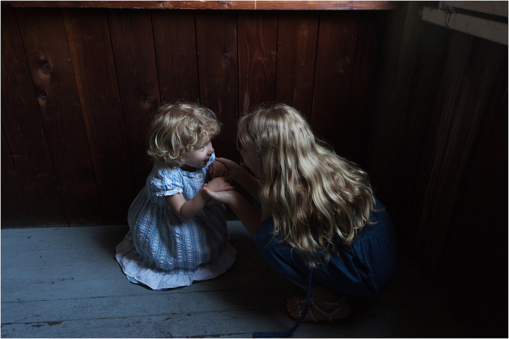 """A fun family session with two sisters. In this image, I wanted to capture the magic of hearing a secret."" 