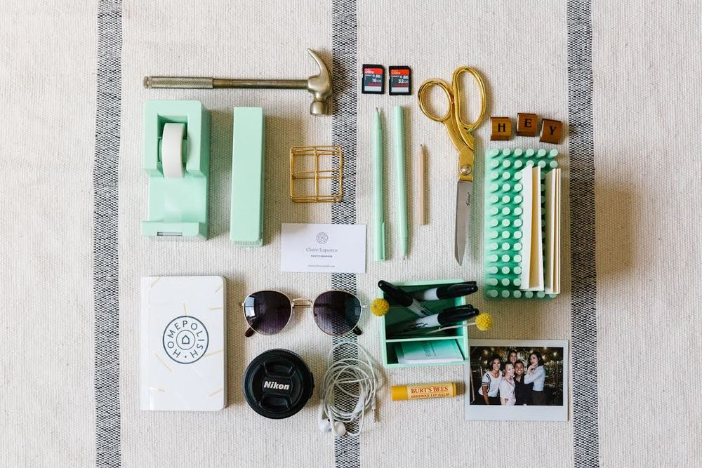 My desk items, styled to my liking. Photograph by Julia Robbs for Urban Outfitters.