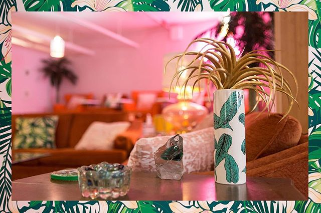 Tropical paradise at @wild_oleander in #Bushwick. 🌴 🌱🌿 Check out the piece about this beautiful, newly opened space and its lovely owner @sandralee81 in this issue of #MADEOF, written by the talented @mylifeinpichtures. #ladyguns #nailsalon #brooklyn