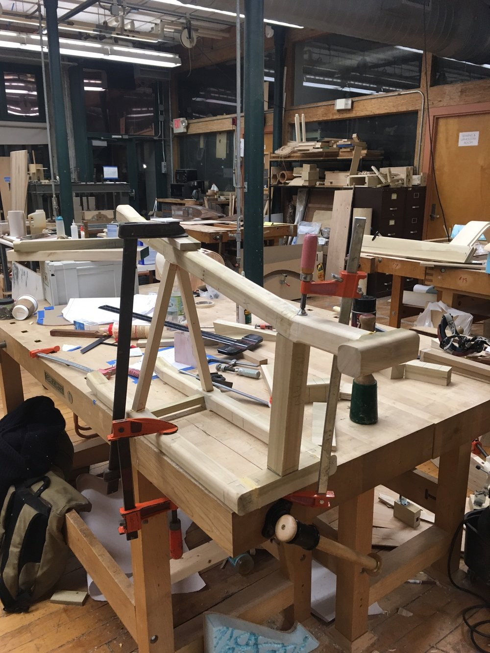 Gluing of the frame.