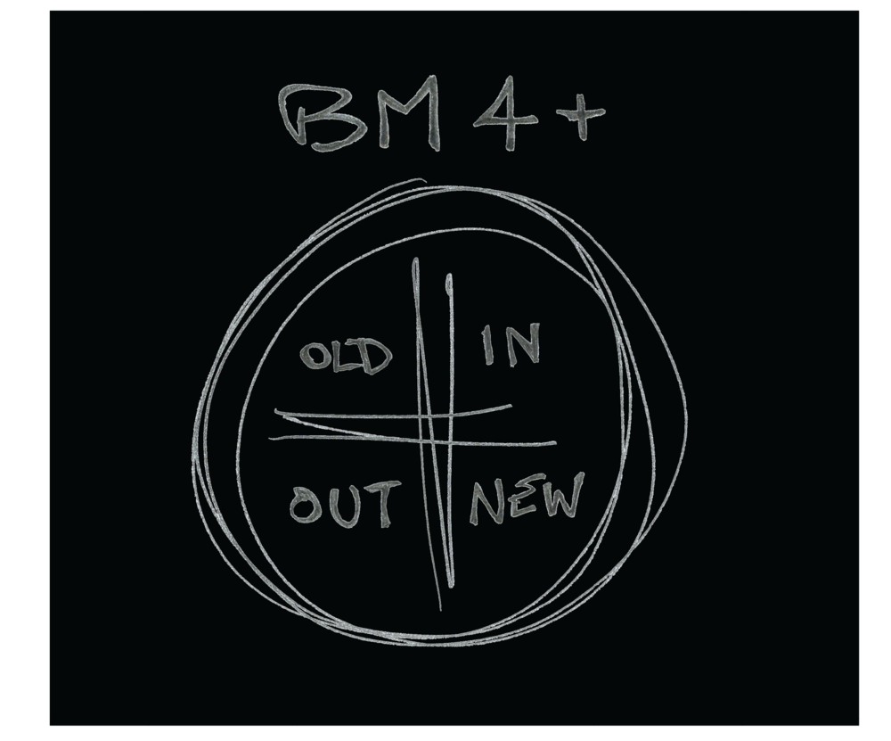 "BM4 CD cover:  ""OLD / IN / OUT / NEW"""