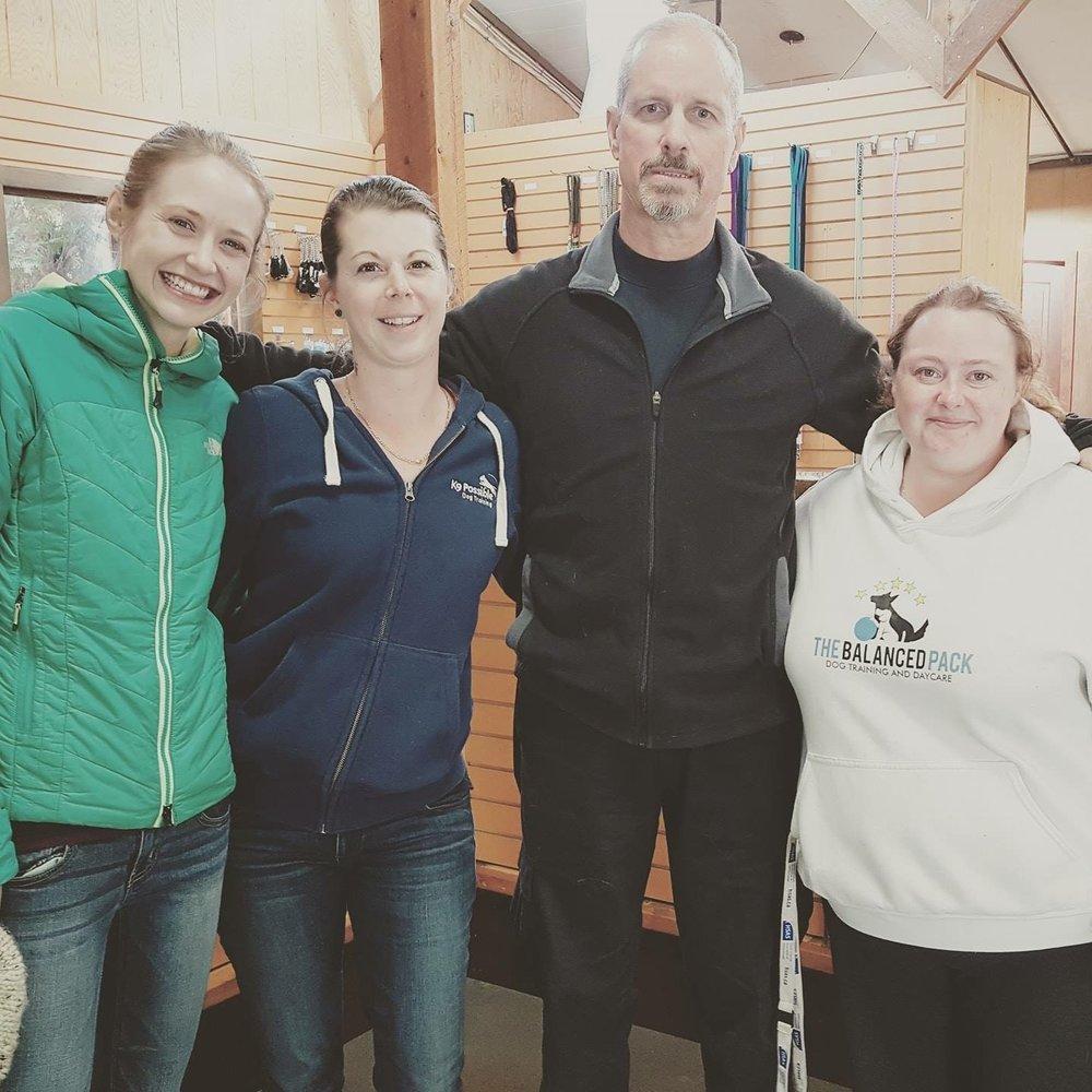 Izzie, Simone, Nelson Hodges & Shayla in Penticton, BC - 2017