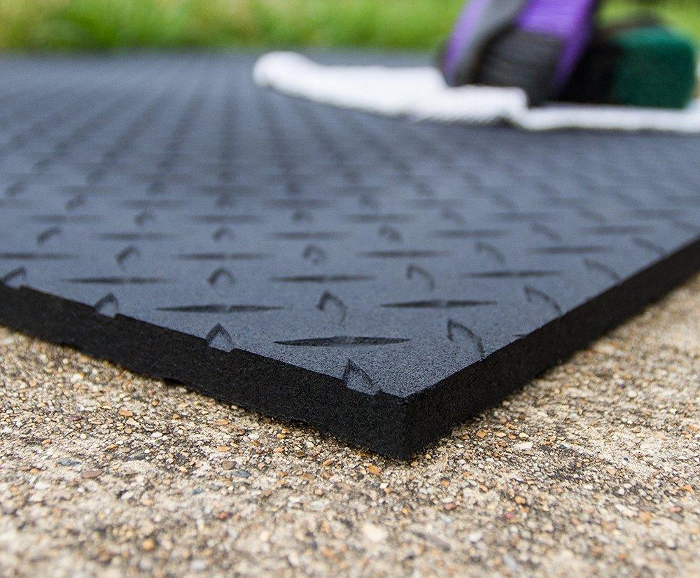 textured horse stall mat