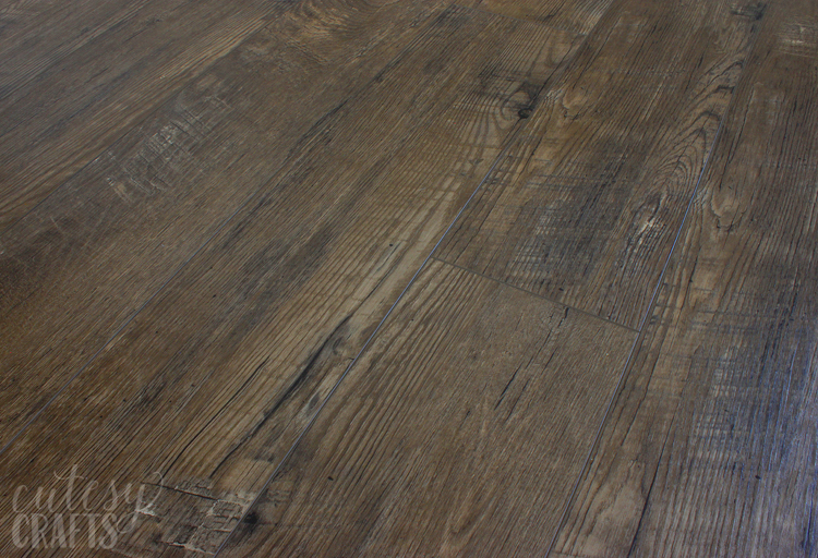Luxury Vinyl Plank flooring, nearly identical to ours
