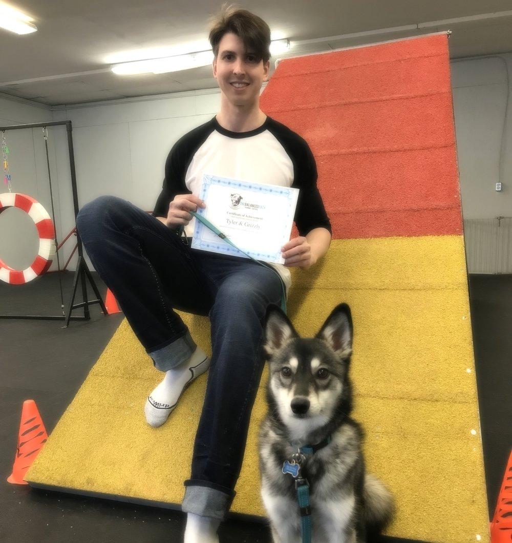 Tyler & Grizzly FUNagility grads