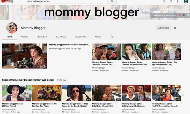 Hey 👋 @mommybloggerseries is now up on @youtube so it's easily bingewatchable. New episodes coming soon.  Link in profile.