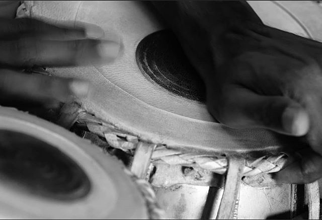 Tabla master Dr. Prash crafts a vibrant rhythm for the first form in #BeautyinPieces. Exhibition opening night is tomorrow! Come down and join us for the opening from 5-6:30p. Details in the link in bio. #whatsonmelbourne #melbournefilm #melbournemusic #melbournearts