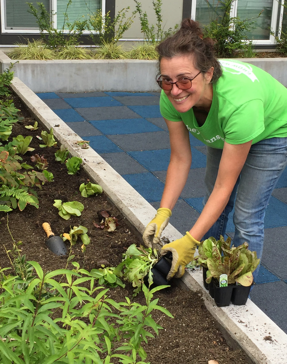 Spring veggie planting at Compass on Dexter