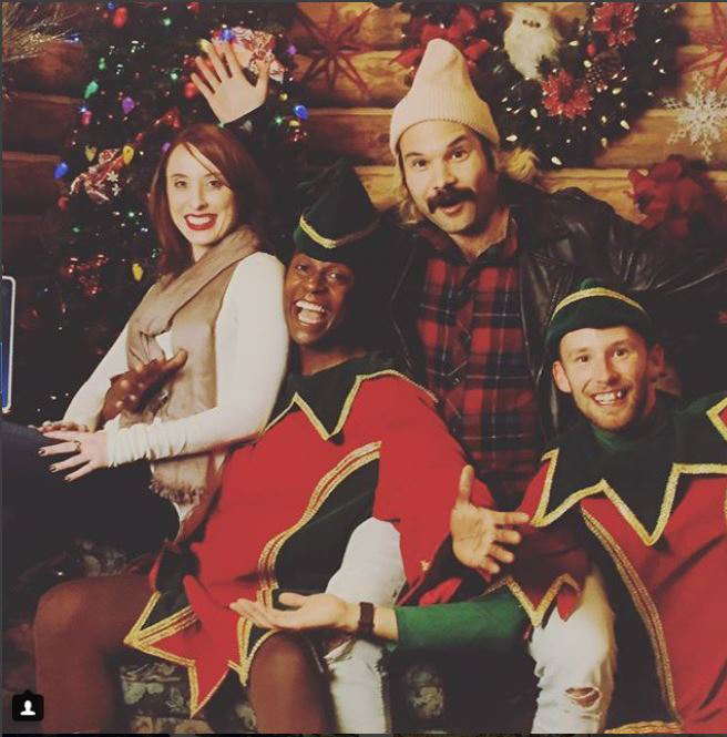 Our Holiday Party featured photos with Santa's elves*