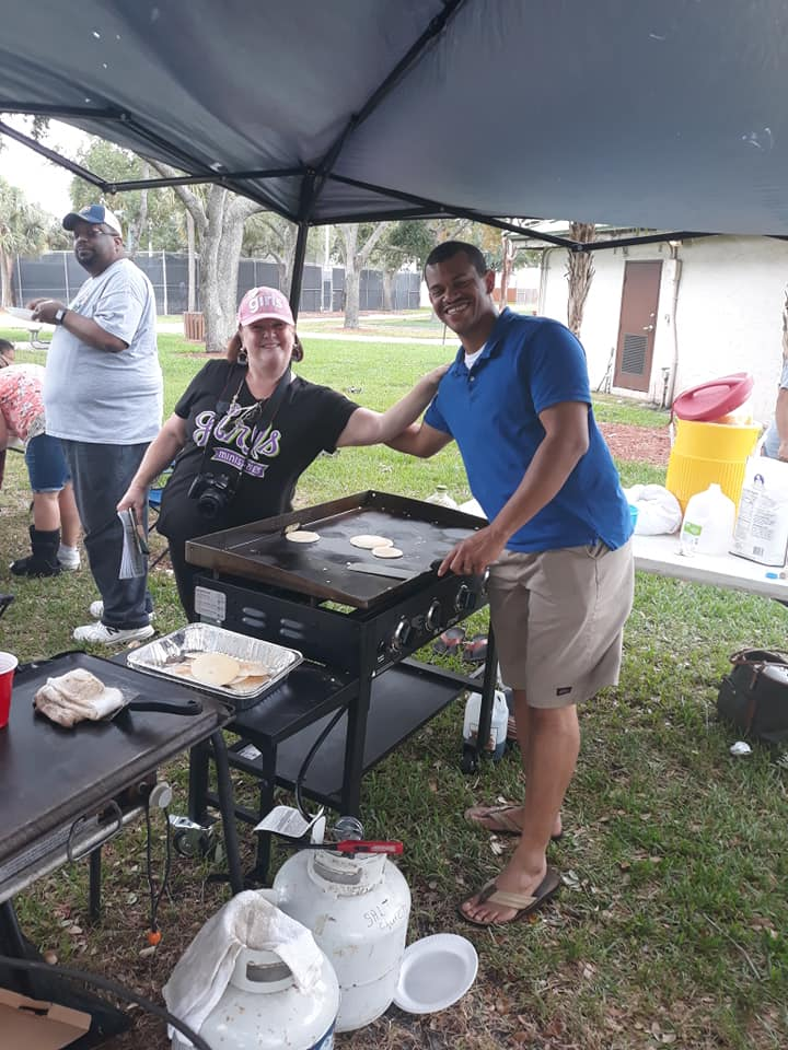 Pancakes in the Park in Boca Raton