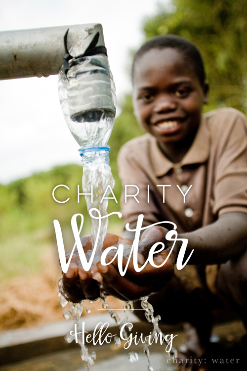 Charity Water  |  Hello Giving  |  Hello World Paper Co.