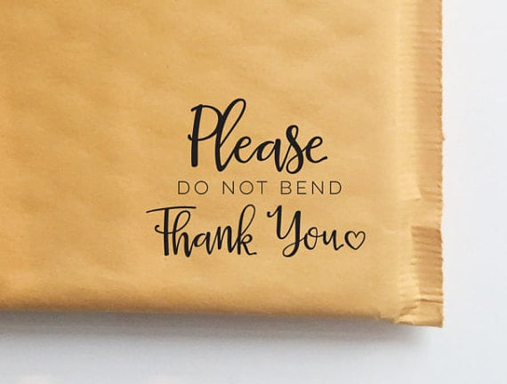 Please Do Not Bend Stamp from Hello World Paper Co.