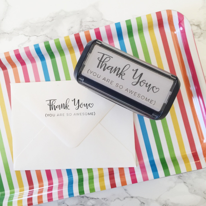 Thank You, You Are So Awesome Stamp by Hello World Paper Co.