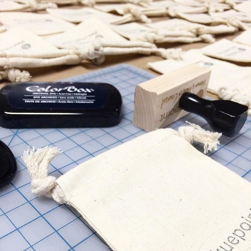 Custom Logo Stamp by Hello World Paper Co.