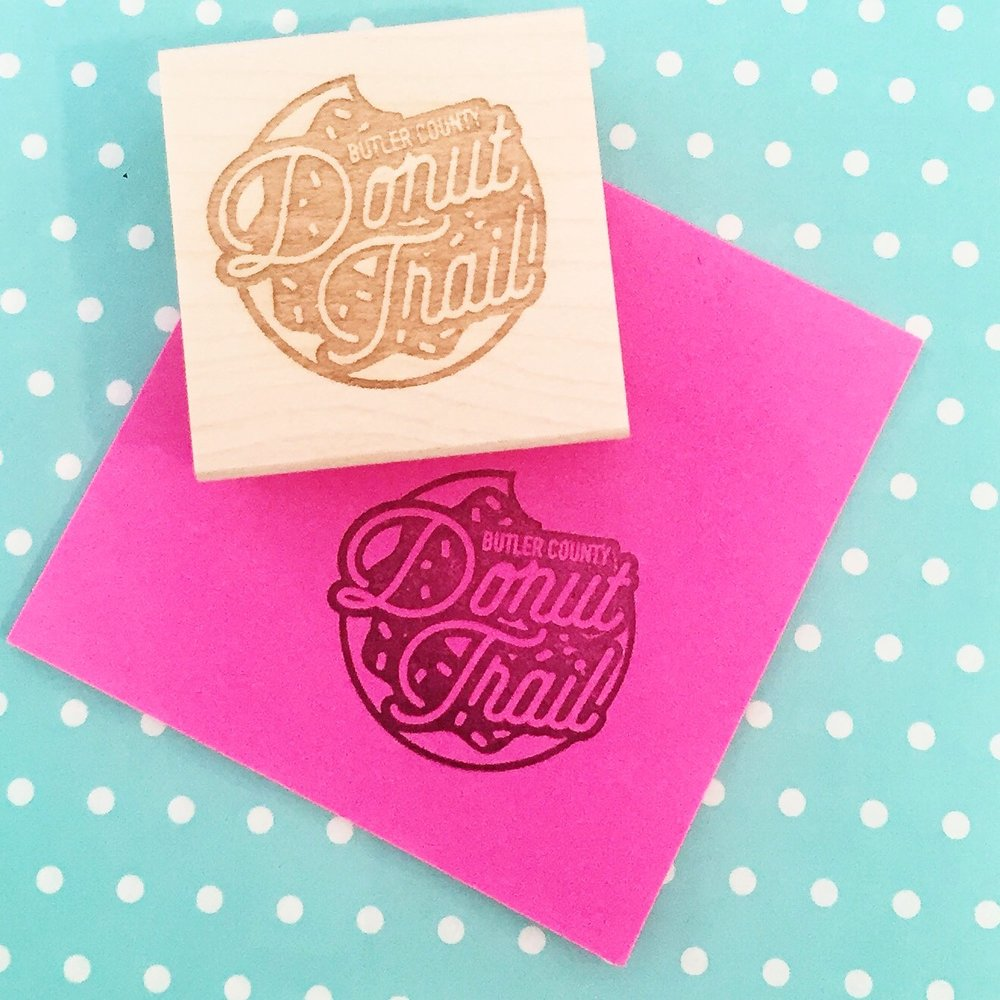 Donut Trail Stamp by Hello World Paper Co.