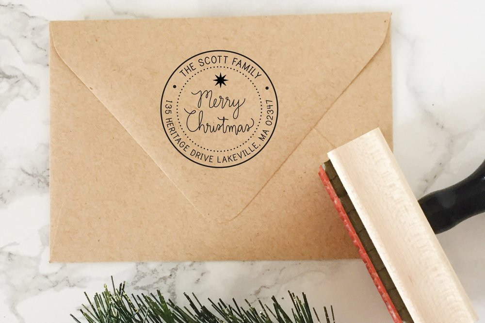 Merry Christmas Stamp by Hello World Paper Co.