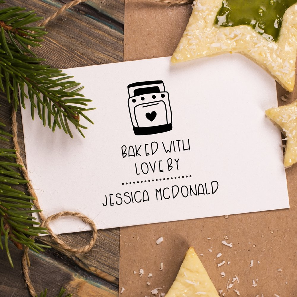 Baked with Love Stamp by Hello World Paper Co. & Stamps
