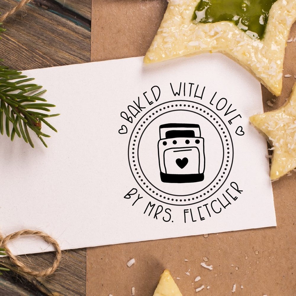 Baked With Love Stamp by Hello World Stamps