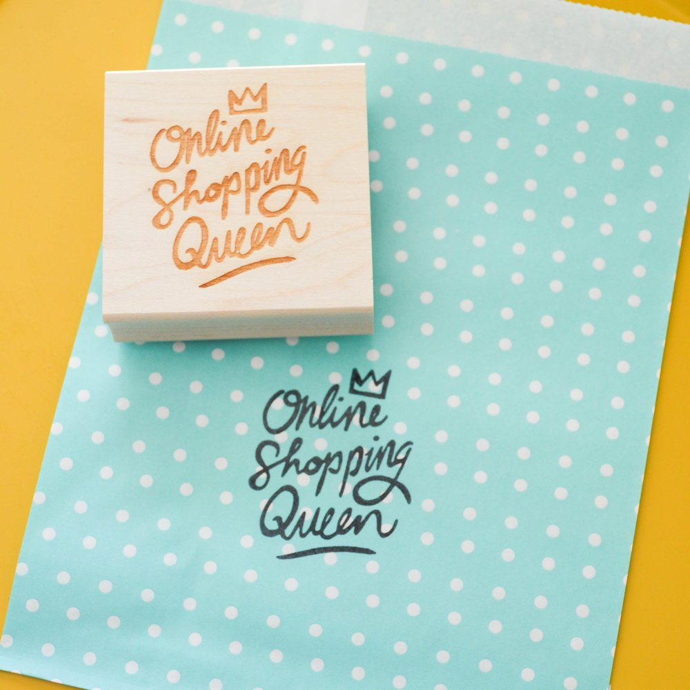 Online Shopping Queen Rubber Stamp.jpg