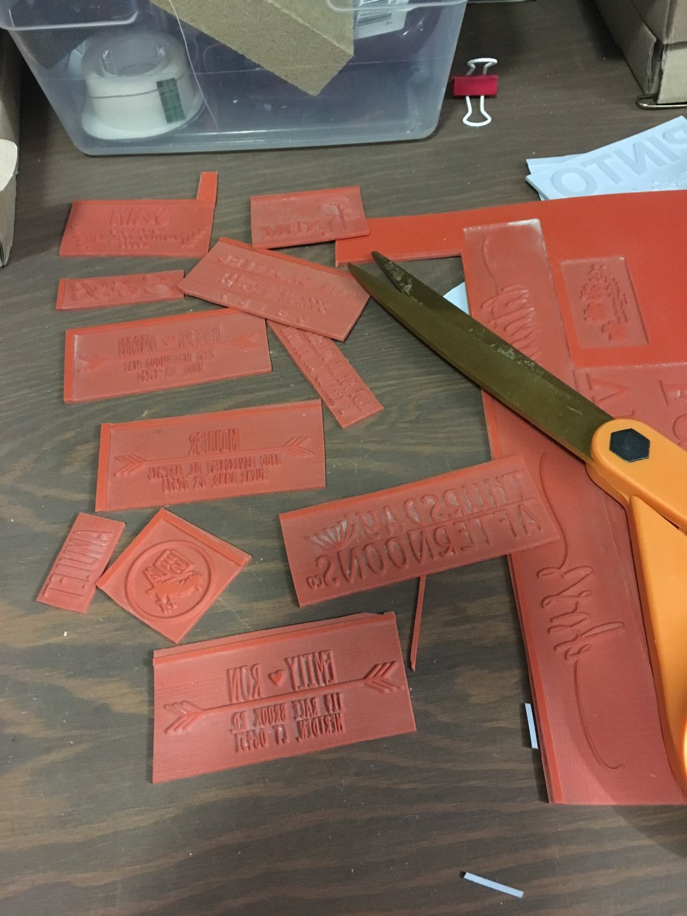 Stamps are cut and tested by hand for quality control!