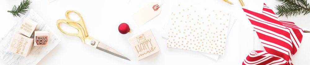Holiday Stamps by Hello World Paper Co. & Stamps